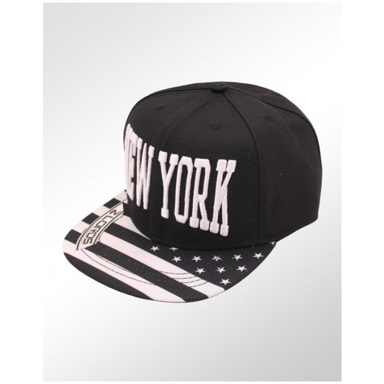 Boné Lords Snapback Aba Reta New York Preto 1